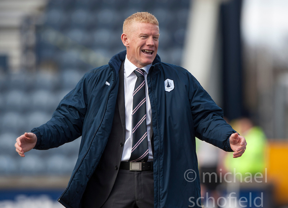 Falkirk's manager Gary Holt..Raith Rovers 0 v 0 Falkirk, 27/4/2013..© Michael Schofield.