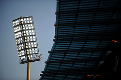 Floodlights in The Royal Bafokeng Stadium in Rustenburg, Phokeng, South Africa. Venue for the FIFA Confederations Cup South Africa 2009 and the FIFA World Cup South Africa 2010