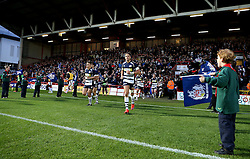 Bristol Rugby run through a The Guard of Honour - Mandatory byline: Robbie Stephenson/JMP - 25/05/2016 - RUGBY UNION - Ashton Gate Stadium - Bristol, England - Bristol Rugby v Doncaster Knights - Greene King IPA Championship Play Off FINAL 2nd Leg.