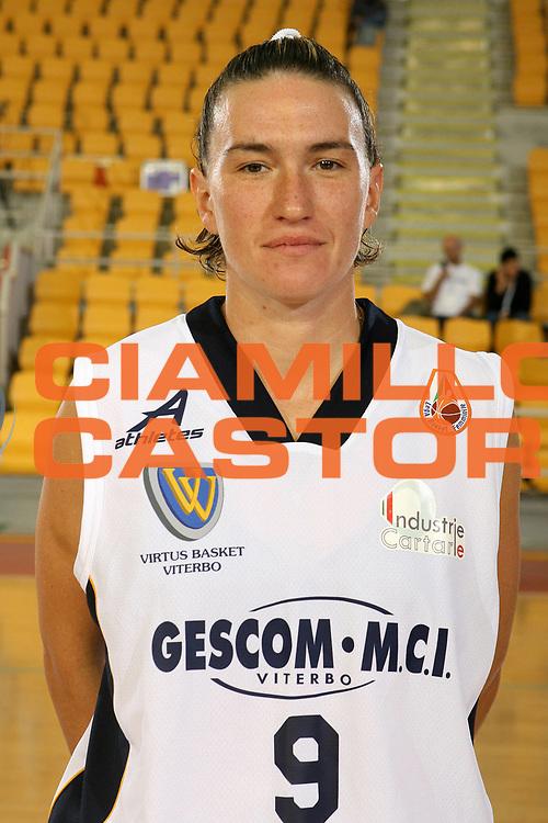DESCRIZIONE : Roma Lega A1 Femminile 2008-09 Prima giornata Campionato <br /> GIOCATORE : Michela Franchetti<br /> SQUADRA : Gescom MCI Viterbo<br /> EVENTO : Campionato Lega A1 Femminile 2008-2009 <br /> GARA : <br /> DATA : 11/10/2008 <br /> CATEGORIA : Ritratto<br /> SPORT : Pallacanestro <br /> AUTORE : Agenzia Ciamillo-Castoria/E.Castoria