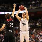 Breanna Stewart, UConn, shooting three during the UConn Vs Cincinnati Quarterfinal Basketball game at the American Women's College Basketball Championships 2015 at Mohegan Sun Arena, Uncasville, Connecticut, USA. 7th March 2015. Photo Tim Clayton