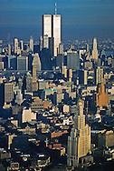 Brooklyn and Manhattan, Twin Towers and Williamsburg Savings Bank Building, Aerial,  New York City, New York, USA
