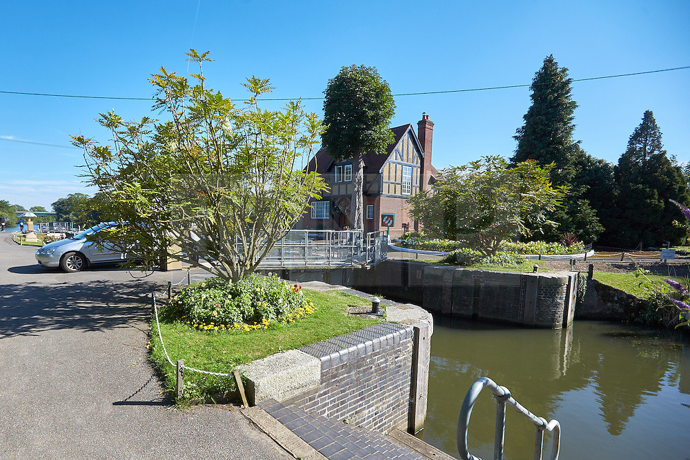 © Licensed to London News Pictures. 02/08/2015. BRAY, UK. General view of Bray Lock on the River Thames near to where a large boat (not pictured)exploded injuring seven people including at least one child. Photo credit : Cliff Hide/LNP