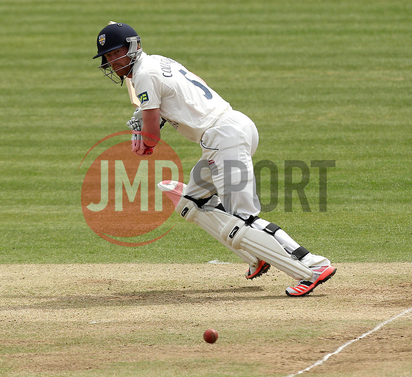 Durham's Paul Collingwood flicks through square leg - Photo mandatory by-line: Robbie Stephenson/JMP - Mobile: 07966 386802 - 04/05/2015 - SPORT - Football - London - Lords  - Middlesex CCC v Durham CCC - County Championship Division One