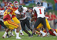 September 2 2010: Northern Illinois Huskies running back Chad Spann (28) during the first half of the NCAA football game between the Northern Illinois Huskies and the Iowa State Cyclones at Jack Trice Stadium in Ames, Iowa on Thursday September 2, 2010. Iowa State defeated Northern Illinois 27-10.
