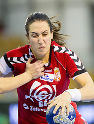 Andrea Lekic of Serbia during handball match between Women National teams of Slovenia and Serbia in 2nd Round of Qualifications for 2014 EHF European Championship on October 27, 2013 in Hala Tivoli, Ljubljana, Slovenia. Slovenia defeated Serbia 31-26. (Photo by Vid Ponikvar / Sportida)
