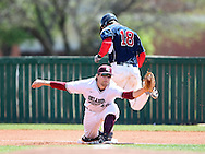 April 10, 2015: The Oklahoma Panhandle State University Aggies play against the Oklahoma Christian University Eagles at Dobson Field on the campus of Oklahoma Christian University.