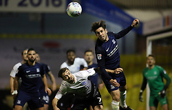 Michael Timlin of Southend United out jumps Gwion Edwards of Peterborough United - Mandatory by-line: Joe Dent/JMP - 17/10/2017 - FOOTBALL - Roots Hall - Southend-on-Sea, England - Southend United v Peterborough United - Sky Bet League Two