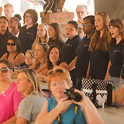 The Girls' Choir of Wilmington performs Sunday September 21, 2014 during a celebration of International Day of Peace sponsored by Grandmothers for Peace at Hugh MacRae Park in Wilmington, N.C. (Jason A. Frizzelle)