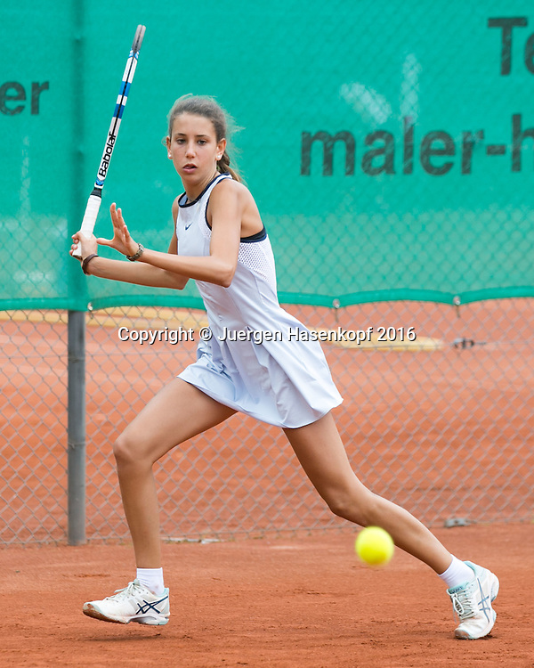 Tennis Europe-Bavarian Junior Open, Caterina Pantoli (ITA)  GS16<br /> <br /> Tennis - Bavarian Junior Open 2016 - Tennis Europe Junior Tour -  SC Eching - Eching - Bayern - Germany  - 9 August 2016. <br /> &copy; Juergen Hasenkopf