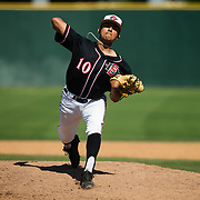 19 March 2017: The San Diego State Aztecs baseball team closed out a weekend series against UNLV with a 13-5 win.<br /> www.sdsuaztecphotos.com