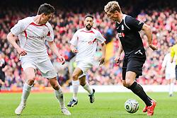 Fernando Torres attacks for the Gerrard XI  - Photo mandatory by-line: Matt McNulty/JMP - Mobile: 07966 386802 - 29/03/2015 - SPORT - Football - Liverpool - Anfield Stadium - Gerrard's Squad v Carragher's Squad - Liverpool FC All stars Game