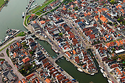 Nederland, Friesland, gemeente Wonseradeel, 28-04-2010; Makkum..luchtfoto (toeslag), aerial photo (additional fee required).foto/photo Siebe Swart.--------------