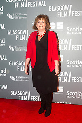 Fiona Hyslop attending the World Premiere of Mad To Be Normal, the closing gala of the Glasgow Film Festival, held at the GFT.