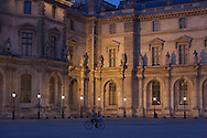 France. Paris. 1st district. Louvre museum.  main courtyard /  musee du Louvre