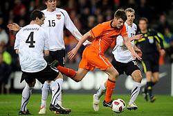 09-02-2011 VOETBAL: NEDERLAND - OOSTENRIJK: EINDHOVEN<br /> Netherlands in a friendly match with Austria won 3-1 / Great change for Klaas-Jan Huntelaar NED<br /> ©2011-WWW.FOTOHOOGENDOORN.NL