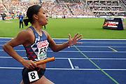 Orlann Ombissa-Dzangue competes in women relay 4x100m during the European Championships 2018, at Olympic Stadium in Berlin, Germany, Day 6, on August 12, 2018 - Photo Philippe Millereau / KMSP / ProSportsImages / DPPI