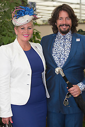 © Licensed to London News Pictures. 20/05/2013. London, England. Laurence Llewelyn-Bowen with wife Jackie. Celebrities at Press Day Monday of the RHS Chelsea Flower Show. Photo credit: Bettina Strenske/LNP