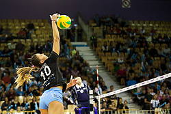 Olivera Kostic of Calcit Ljubljana during the volleyball match between Calcit Ljubljana and PGE Atom Trefl Sopot at 2016 CEV Volleyball Champions League, Women, League Round in Pool B, 1st Leg, on October 29, 2016, in Hala Tivoli, Ljubljana, Slovenia.  (Photo by Matic Klansek Velej / Sportida)