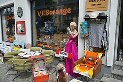 Vintage memorabilia from former East Germany for sale in shopin bohemian Prenzlauer Berg district of Berlin Germany