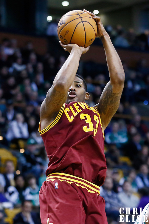 19 December 2012: Cleveland Cavaliers small forward Alonzo Gee (33) takes a jumpshot during the Boston Celtics 103-91 victory over the Cleveland Cavaliers at the TD Garden, Boston, Massachusetts, USA.