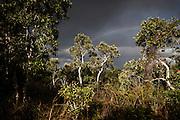 NOUVELLE CALEDONIE, Aout 2013 - Poum - Crépuscule sur les relief de la région de Poum , vers Arama