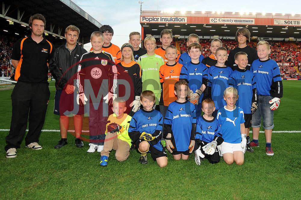 Mascots  - Photo mandatory by-line: Dougie Allward/JMP - Tel: Mobile: 07966 386802 04/09/2013 - SPORT - FOOTBALL -  Ashton Gate - Bristol - Bristol City V Bristol Rovers - Johnstone Paint Trophy - First Round - Bristol Derby