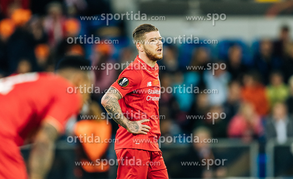 18.05.2016, St. Jakob Park, Basel, SUI, UEFA EL, FC Liverpool vs Sevilla FC, Finale, im Bild entäuscht Alberto Moreno (FC Liverpool) // dejected Alberto Moreno (FC Liverpool) during the Final Match of the UEFA Europaleague between FC Liverpool and Sevilla FC at the St. Jakob Park in Basel, Switzerland on 2016/05/18. EXPA Pictures © 2016, PhotoCredit: EXPA/ JFK