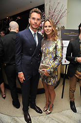 CHANTELLE KERZNER and LUKE SWEENEY at the second night of the Tomodachi (Friends) Charity Dinners hosted by Chef Nobu Matsuhisa in aid of the Japanese committee for UNICEF held at Nobu Berkeley, Berkeley Street, London on 5th May 2011.