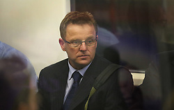 © Licensed to London News Pictures. 30/09/2015. London, UK. Barrister Peter Barnett travels on an Underground train after being given a 16 week suspended prison sentence for fare dodging.  Photo credit: Peter Macdiarmid/LNP