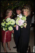 ANN SINGER; CHRISTOPHER LEACH; BEBE VAN ZUYLEN, Cartier dinner in celebration of the Chelsea Flower Show. The Palm Court at the Hurlingham Club, London. 19 May 2014.