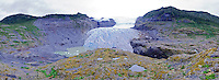 Panoramic of a glacier from Monte Melimoyu in Southern Chile during the Patagonia Expedition 2013 with Nomads of the Seas.
