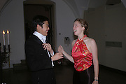 Andrew Yong and Annabel Legge. Connaught Square Squirrel Hunt Inaugural Hunt Ball. Banqueting House, Whitehall. 8 September 2005. ONE TIME USE ONLY - DO NOT ARCHIVE  © Copyright Photograph by Dafydd Jones 66 Stockwell Park Rd. London SW9 0DA Tel 020 7733 0108 www.dafjones.com