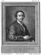 Jose Nicolas de Azara (1731-1804) Spanish diplomat and patron of art and literature. Late 18th century copperplate engraving