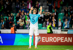 Bostjan Cesar of Slovenia after the football match between National Teams of Slovenia and Scotland of Fifa 2018 World Cup European qualifiers, on October 8, 2017 in SRC Stozice, Ljubljana, Slovenia. Photo by Vid Ponikvar / Sportida
