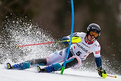 01.03.2020, Hannes Trinkl Weltcupstrecke, Hinterstoder, AUT, FIS Weltcup Ski Alpin, Alpine Kombination, Herren, Slalom, im Bild Victor Muffat-Jeandet (FRA) // Victor Muffat-Jeandet of France in action during his Slalom run of men's Alpine combined of FIS ski alpine world cup at the Hannes Trinkl Weltcupstrecke in Hinterstoder, Austria on 2020/03/01. EXPA Pictures © 2020, PhotoCredit: EXPA/ Johann Groder