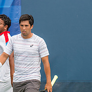 August 21, 2016, New Haven, Connecticut: <br /> Gustavo Loza and Vaidik Munshaw in action during a US Open National Playoffs match at the 2016 Connecticut Open at the Yale University Tennis Center on Sunday, August  21, 2016 in New Haven, Connecticut. <br /> (Photo by Billie Weiss/Connecticut Open)
