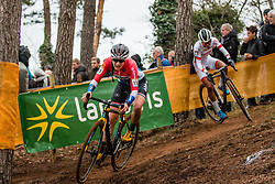 BRAND Lucinda (NED) and ALVARADO Ceylin del Carmen (NED) during Women Elite race, 2019 UCI Cyclo-cross World Cup Heusden-Zolder, Belgium, 26 December 2019.  <br /> <br /> Photo by Pim Nijland / PelotonPhotos.com <br /> <br /> All photos usage must carry mandatory copyright credit (Peloton Photos | Pim Nijland)