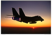 F-14 afterburner at sunset