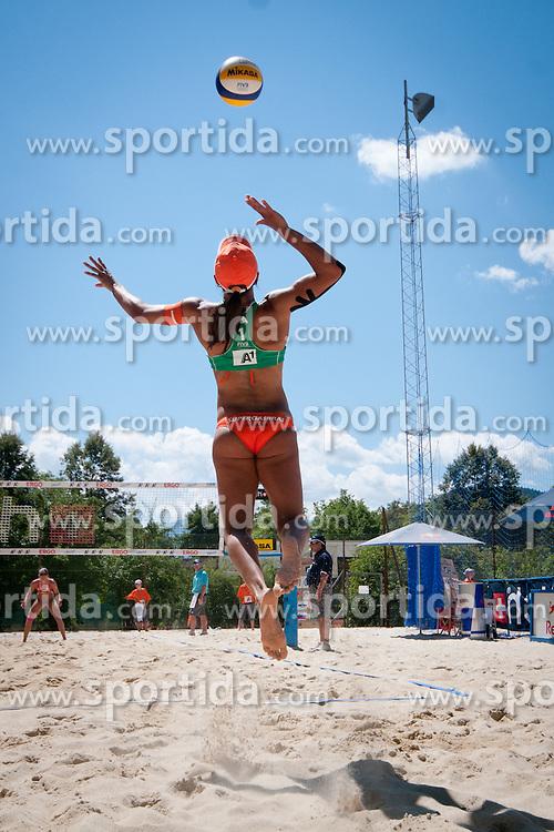 Juliana Felisberta Da Silva of Brazil at A1 Beach Volleyball Grand Slam presented by ERGO tournament of Swatch FIVB World Tour 2012, on July 18, 2012 in Klagenfurt, Austria. (Photo by Matic Klansek Velej / Sportida)