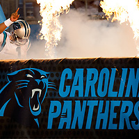 Carolina Panthers quarterback Cam Newton (1) enters the stadium at the start of the NFC Championship game.