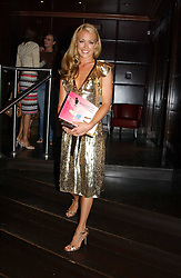 CAT DEELEY  at a party to promote the Kiss It Better campaign for the Great Ormond Street Hospital in association with Stila and Space.NK held at Frankie's, Yeoman's Row, London on 31st May 2005.<br />