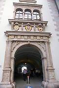 Landhaus archway, Linz, Austria, Old town
