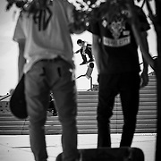 Lifestyle skateboarding shoot