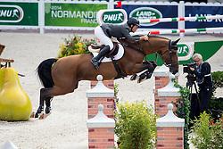 Sergio Alvarez Moya, (ESP), Action Breaker - Team & Individual Competition Jumping Speed - Alltech FEI World Equestrian Games™ 2014 - Normandy, France.<br /> © Hippo Foto Team - Leanjo De Koster<br /> 02-09-14
