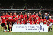 Manchester united line up during the Michael Carrick Testimonial Match between Manchester United 2008 XI and Michael Carrick All-Star XI at Old Trafford, Manchester, England on 4 June 2017. Photo by Phil Duncan.