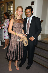 LADY GABRIELLA WINDSOR daughter of Prince & Princess Michael of Kent and her boyfriend AATISH TASEER at a charity event 'In The Pink' a night of music and fashion in aid of the Breast Cancer Haven in association with fashion designer Catherine Walker held at the Cadogan Hall, Sloane Terrace, London on 20th June 2005.<br />