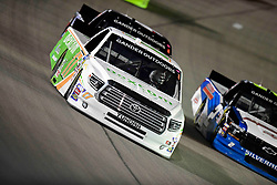 March 1, 2019 - Las Vegas, Nevada, U.S. - LAS VEGAS, NV - MARCH 01: Ryan Reed (17) DGR-Crosley Toyota Tundra racing during the Gander Outdoors Truck Series Strat 200 race on March 1, 2019, at Las Vegas Motor Speedway in Las Vegas, NV. (Photo by David Allio/Icon Sportswire) (Credit Image: © David Allio/Icon SMI via ZUMA Press)