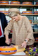 Queen Maxima of The Netherlands opens the new KONO Chees factor in Westbeemster, The Netherlands, 13 November 2014. Photo: Patrick van Katwijk