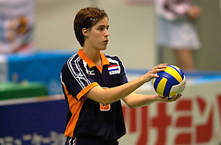 21-06-2000 JAP: OKT Volleybal 2000, Tokyo<br /> Nederland - Croatie 2-3 / Francien Huurman